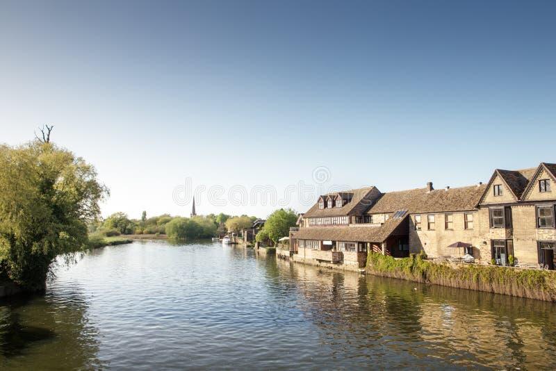 St Ives в Cambridgeshire Англии стоковое изображение rf