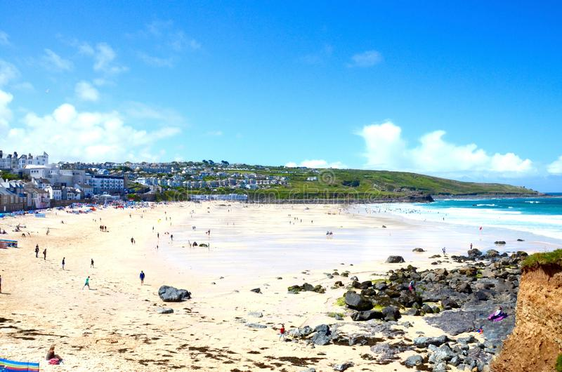 St Ives baai, Cornwall royalty-vrije stock fotografie