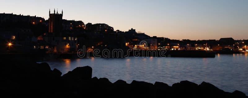 St Ives, bij zonsondergang stock foto