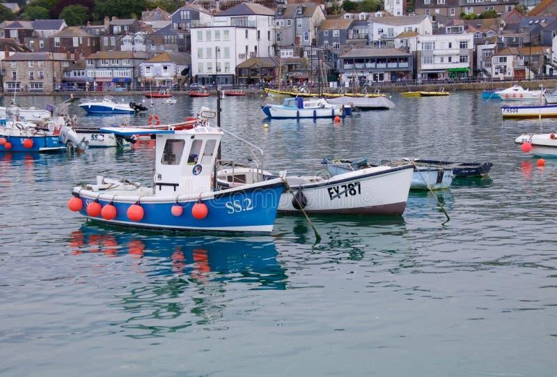 St Ives boten stock afbeeldingen