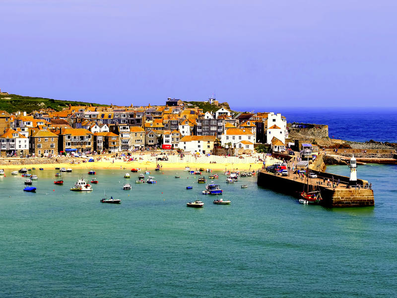 St. Ives, Cornwall. stockfotos