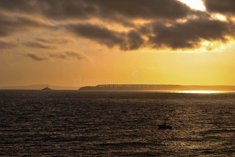 St Ives Cornwall Sunrise royalty-vrije stock afbeelding