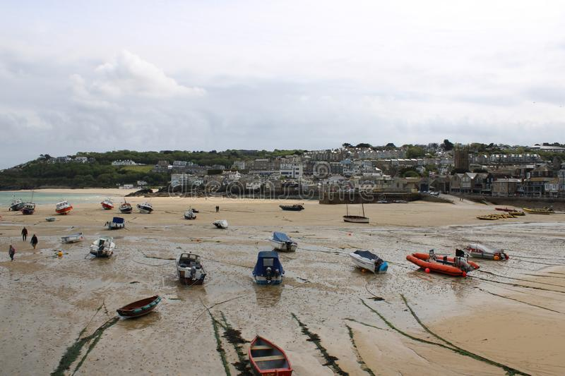 St Ives Harbour Spring Afternoon, Cornwall stock afbeeldingen