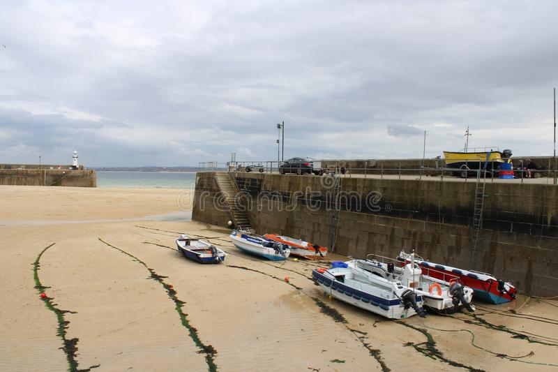 St Ives Harbour Spring Afternoon, Cornwall royalty free stock photos
