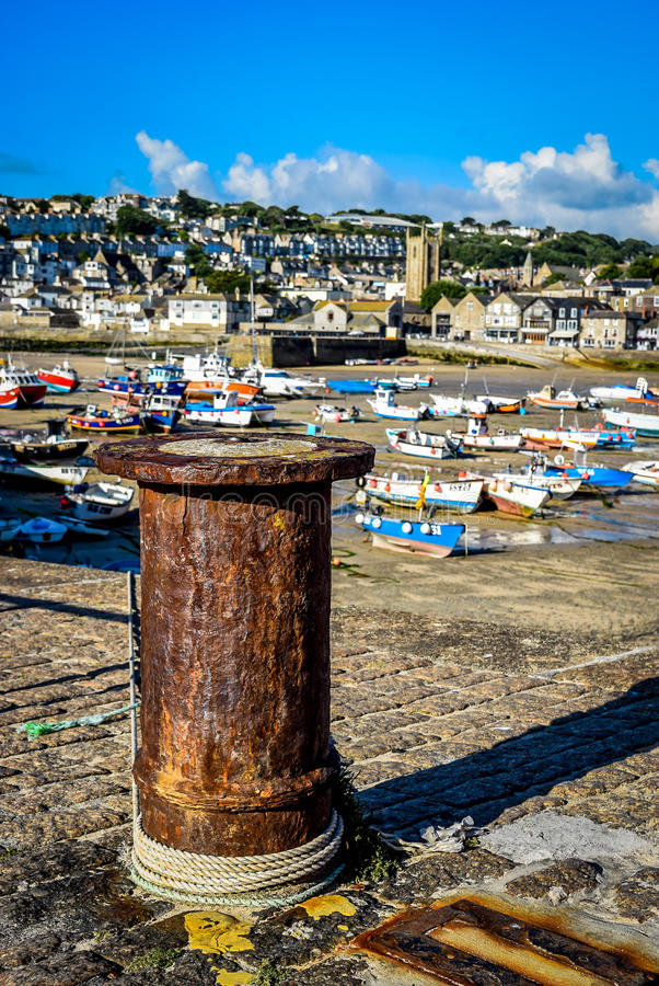 St Ives haven stock afbeelding