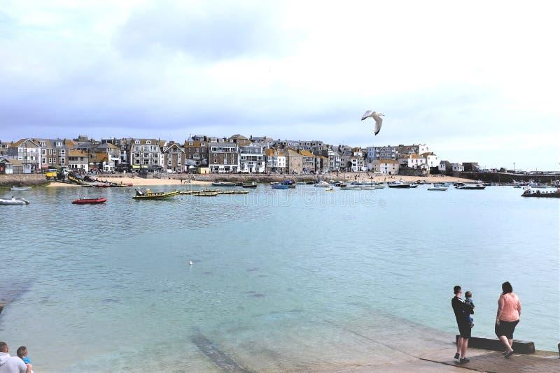 St Ives haven, Cornwall, het UK royalty-vrije stock fotografie