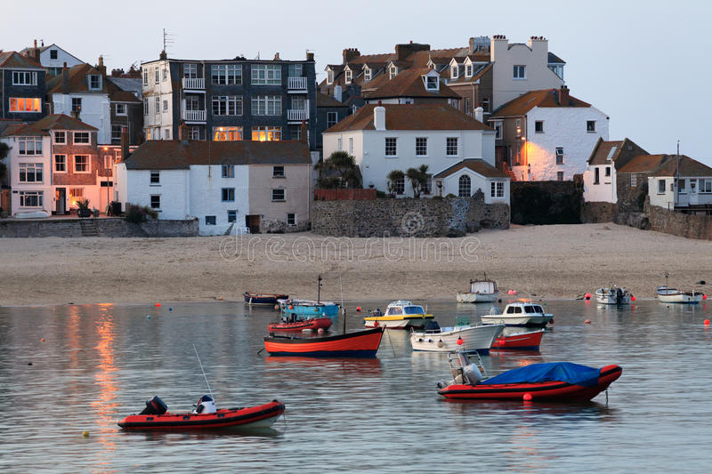 St Ives haven at high tide royalty-vrije stock foto
