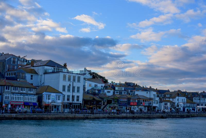 St Ives kuststad, Cownwall, het UK, 10 Nov. 2018 royalty-vrije stock foto