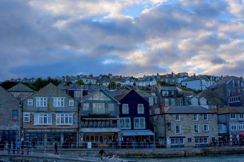 St Ives kuststad, Cownwall, het UK, 10 Nov. 2018 stock foto's