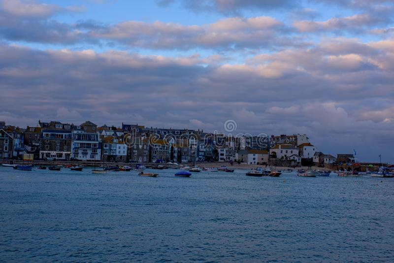 St Ives kuststad, Cownwall, het UK, 10 Nov. 2018 royalty-vrije stock foto's