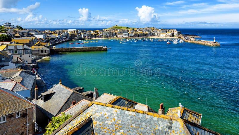St Ives stad, Cornwall, het Verenigd Koninkrijk stock afbeeldingen