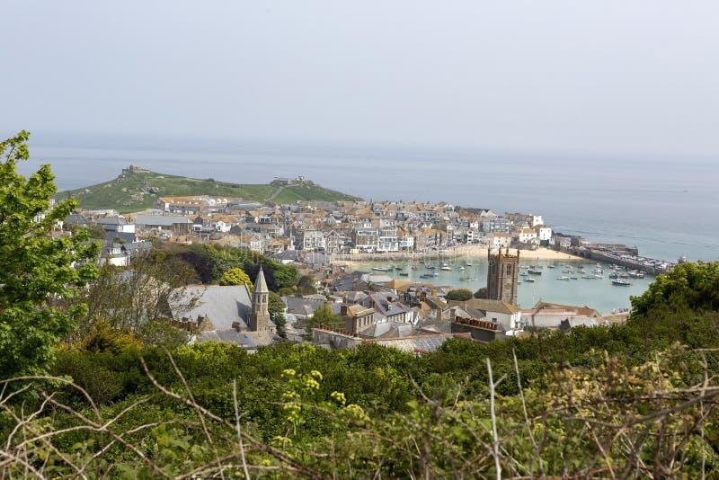 St Ives van de helling, Cornwall, het UK royalty-vrije stock afbeeldingen