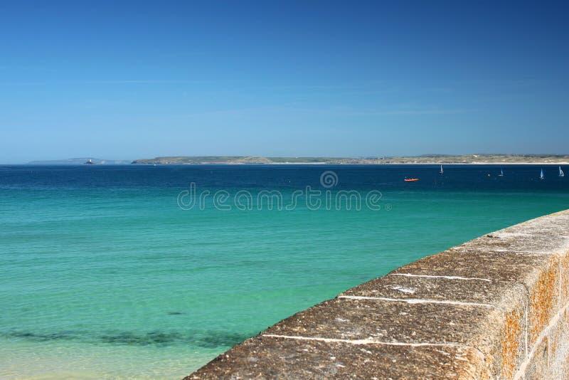 St Ives zeedijk stock afbeelding