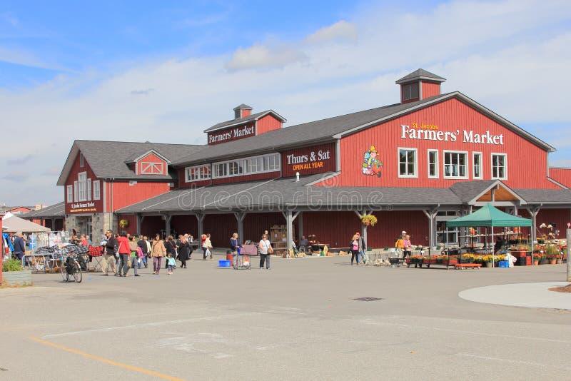 St Jacobs - marché d'agriculteurs photo libre de droits