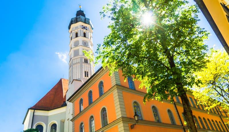 St Jakob Farny kościół w mieście Dachau obok Monachium - G zdjęcia royalty free