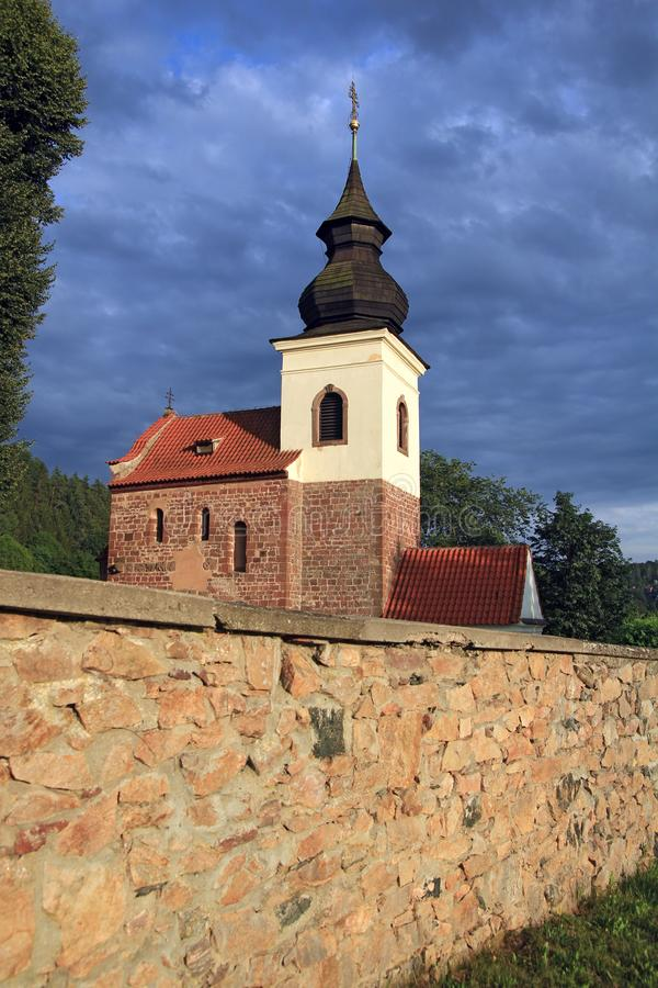 St Jakob Stary kościół blisko Stribrna Skalice, republika czech obraz stock