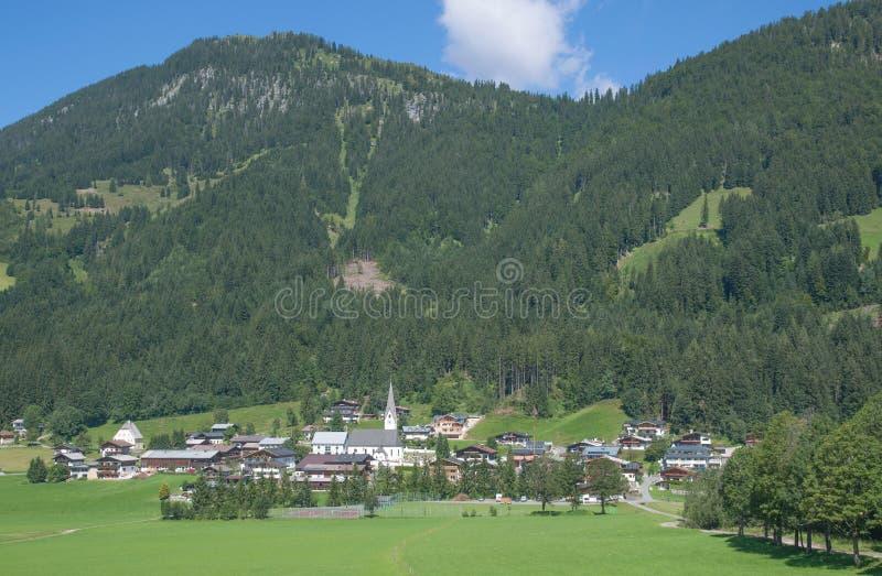 St.Jakob w Haus, Pillersee dolina, Tirol, Austria zdjęcia royalty free