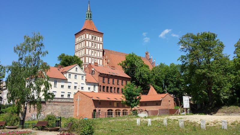 St James Cathedral i Olsztyn, Polen arkivbilder
