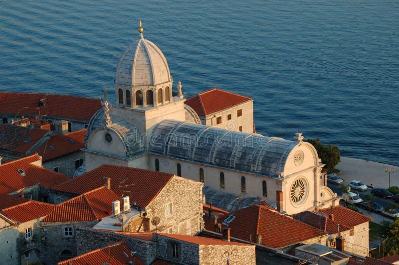 St. James Cathedral in Sibenik - Kroatië royalty-vrije stock foto