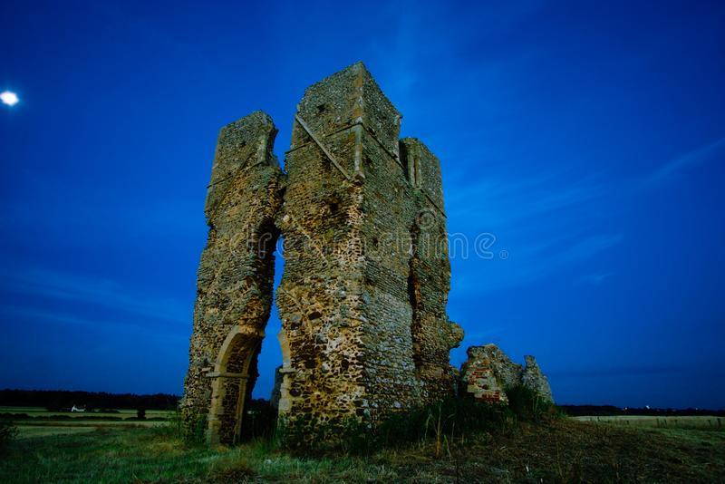 St James church ruins. stock image