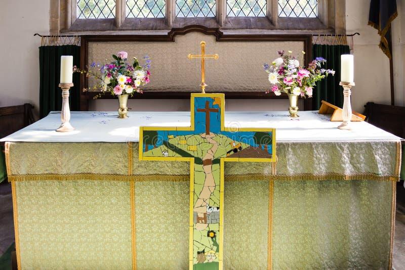 St James The Elder Altar Horton England royaltyfri fotografi