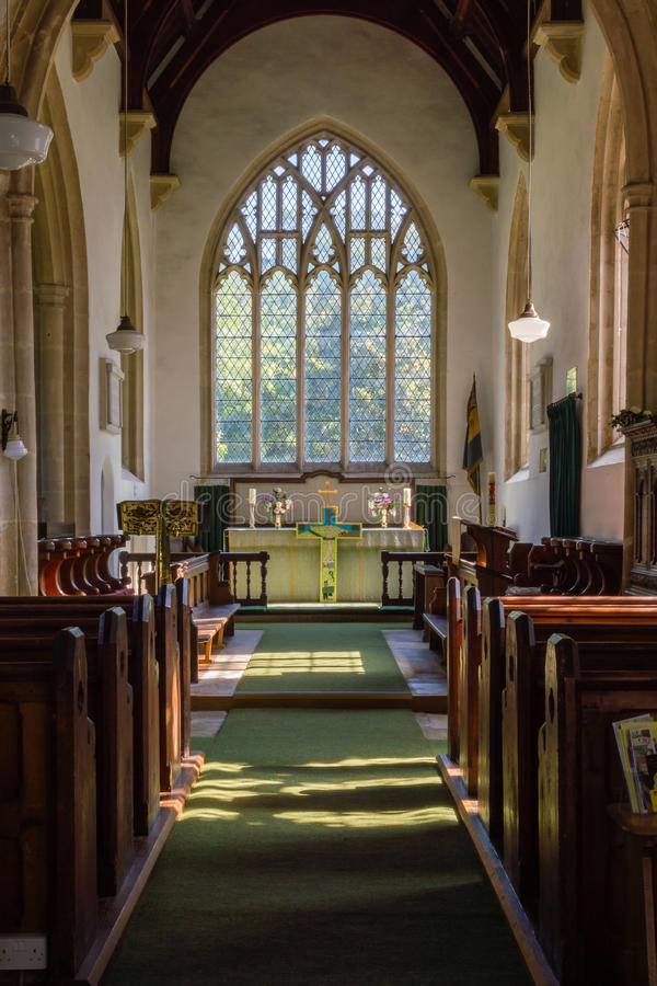 St James The Elder Nave B Horton England photographie stock