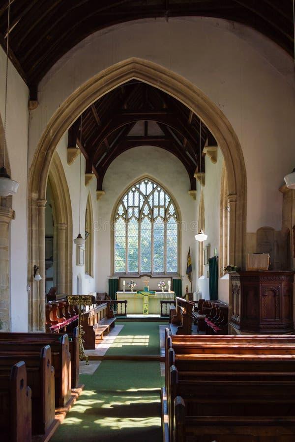 St James The Elder Nave Horton England fotos de stock royalty free