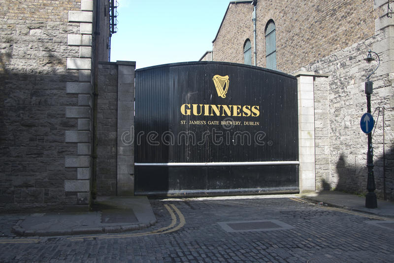 St James Gate, fabbrica di birra di Guinness, città di Dublino fotografia stock