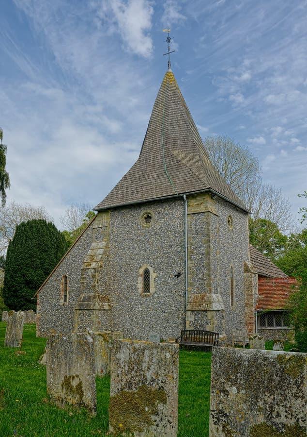 St James kościół, Ashurst, Zachodni Sussex UK zdjęcie stock