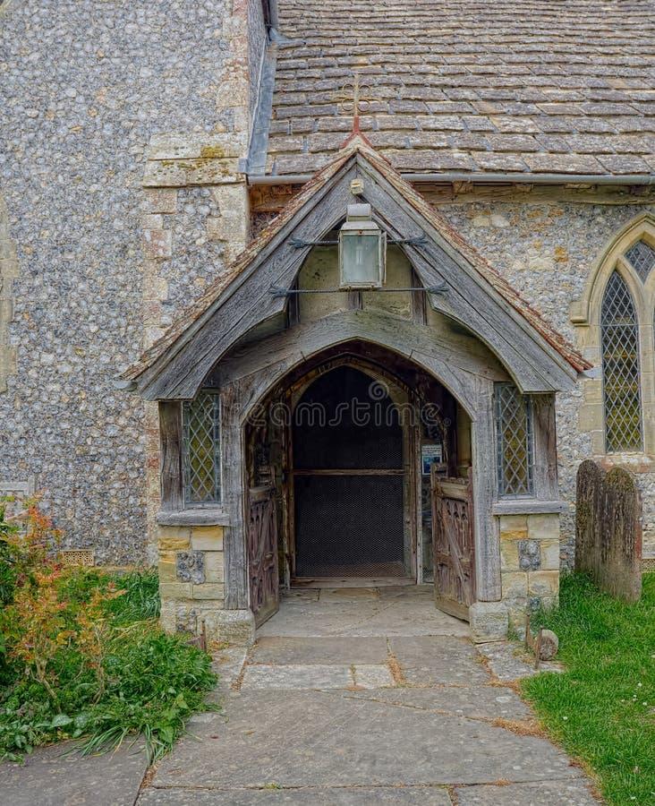 St James Kościelny wejściowy Ashurst, Zachodni Sussex UK fotografia royalty free