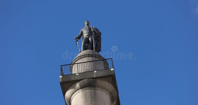 St James, London, Großbritannien, am 7. Februar 2019, Statue und Spalte, zum des Herzogs von York zu gedenken stockbilder