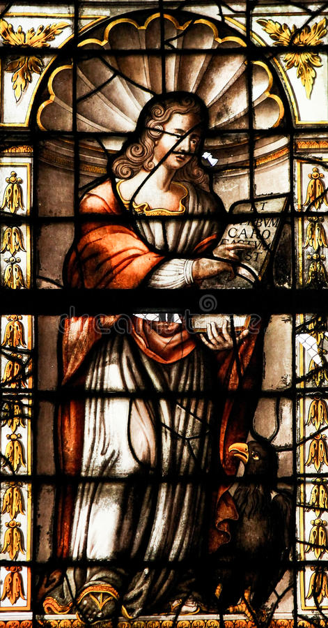 St James - målat glass royaltyfri bild