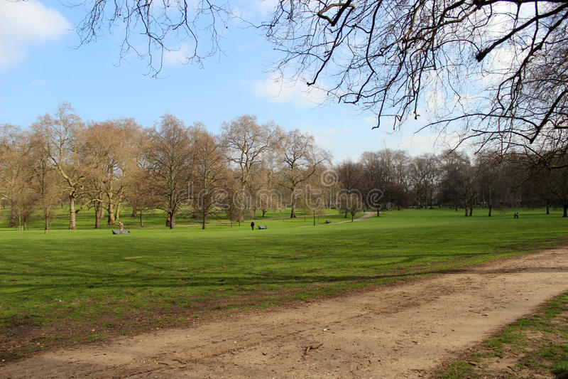 St. James Park. In London (England) next to the Buckingham Palace royalty free stock photo