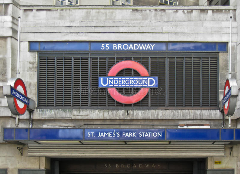 Download St James Park Underground Station London Editorial Photo - Image: 18375611