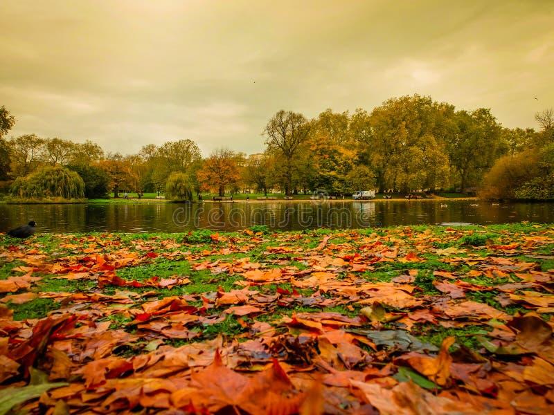 St James Parkmeer in de Herfst royalty-vrije stock foto