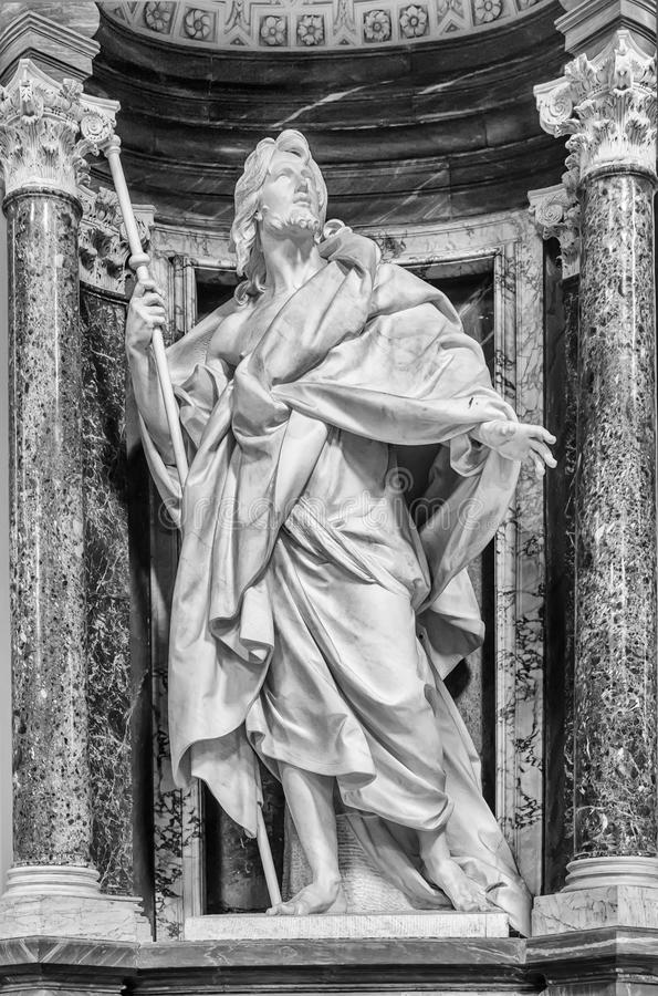 St James Statuaryczny - Rzym fotografia royalty free