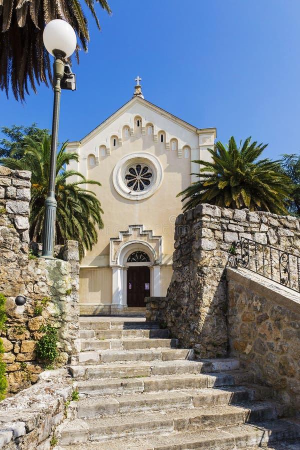 St Jerome kościół w Herceg Novi, Montenegro zdjęcia royalty free