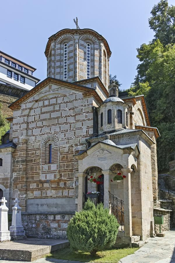 St Joachim di Osogovo, Repubblica del monastero della Macedonia del nord fotografie stock libere da diritti