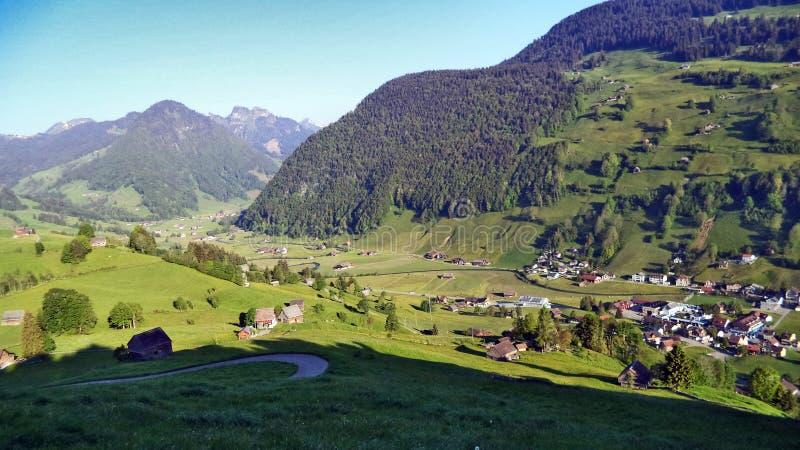 St Johann Alt в регионе Toggenburg и в Thur River Valley стоковые фотографии rf