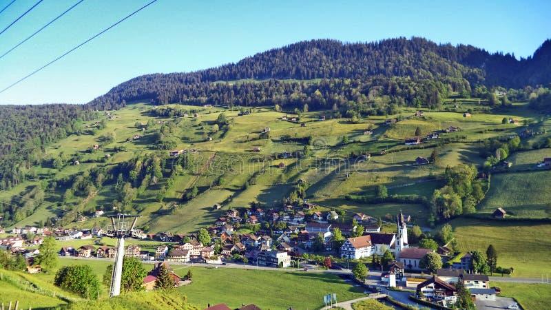 St Johann Alt в регионе Toggenburg и в Thur River Valley стоковое фото