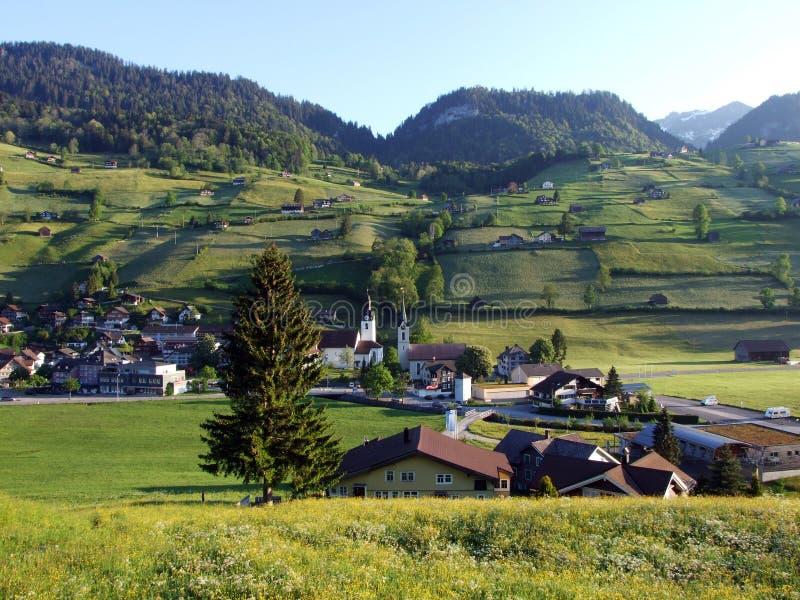 St Johann Alt в регионе Toggenburg и в Thur River Valley стоковые фото