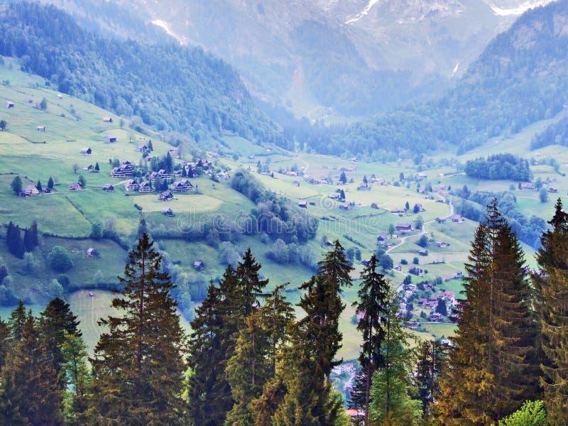 St Johann Alt в регионе Toggenburg и в Thur River Valley стоковые изображения rf