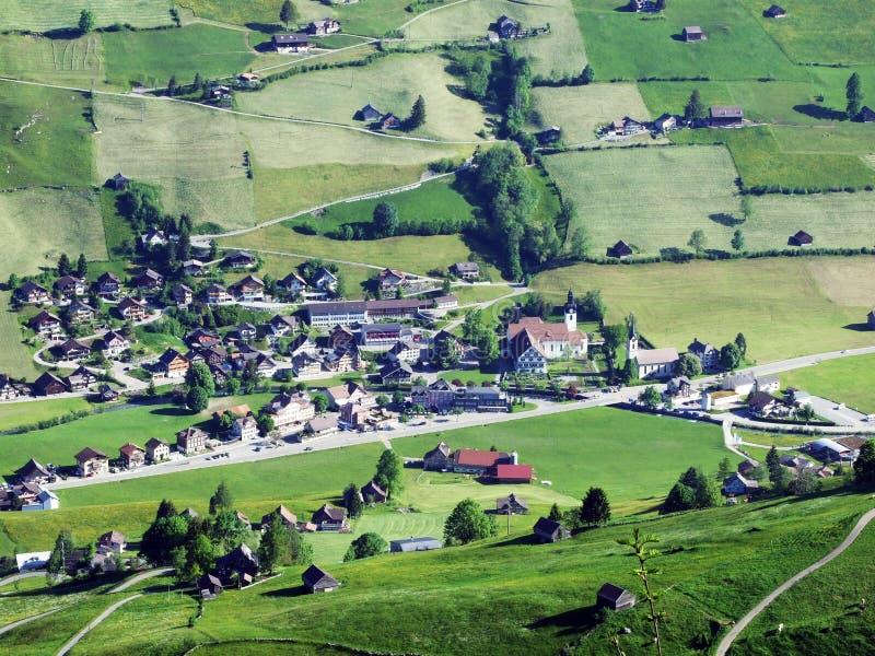 St Johann Alt в регионе Toggenburg и в Thur River Valley стоковое изображение
