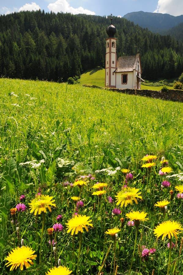 Download St Johann Church, Santa Maddalena, Val Di Funes, Dolomites Stock Image - Image: 83716349