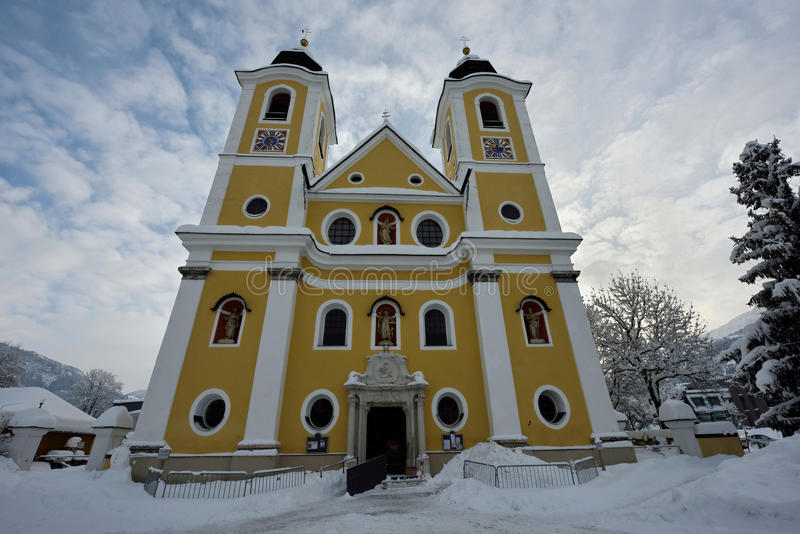 St Johann dans l'église du Tirol photo stock