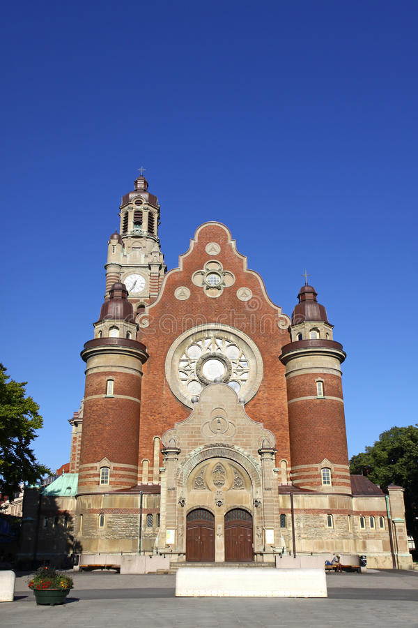 St Johannes Church en Malmo! foto de archivo