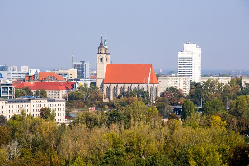 St. johanns church in Magdeburg stock photo