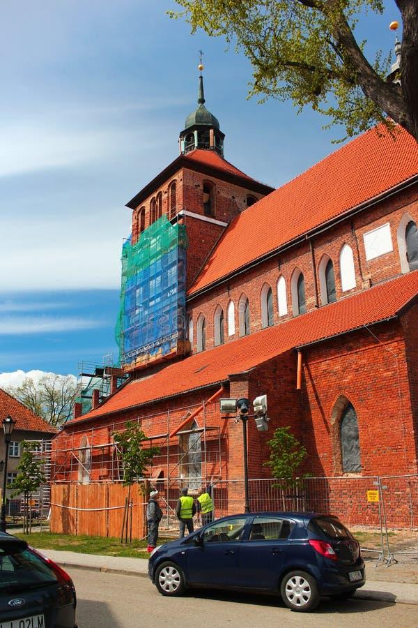 St. John евангелист и наша дама церков Czestochowa в Bartoszyce, Польше стоковые фото