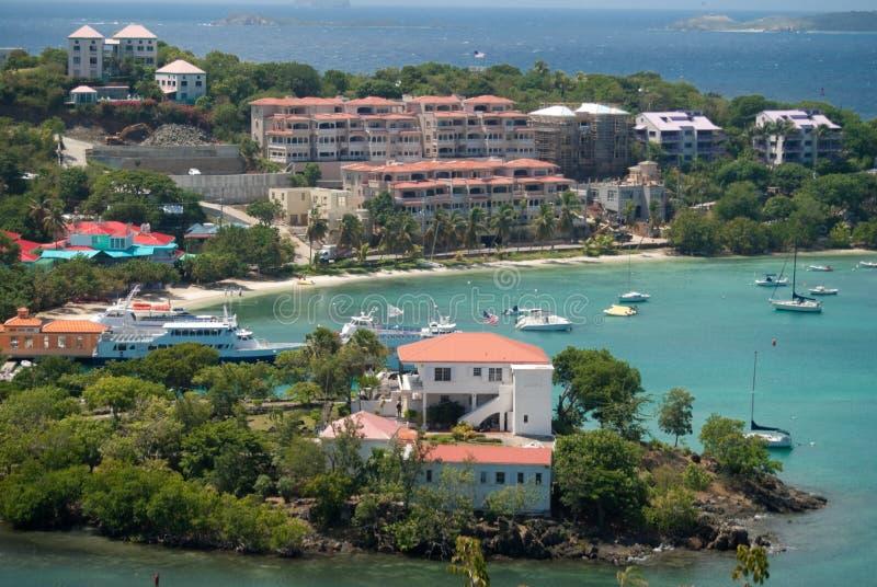 st john острова cruz залива мы виргинские стоковые фото