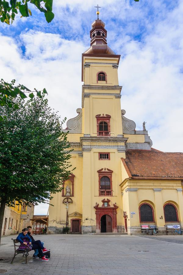 St John Baptist Cathedral, Trnava stock foto